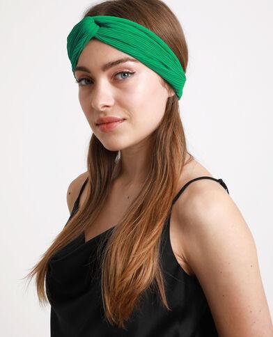 Geplooide haarband groen