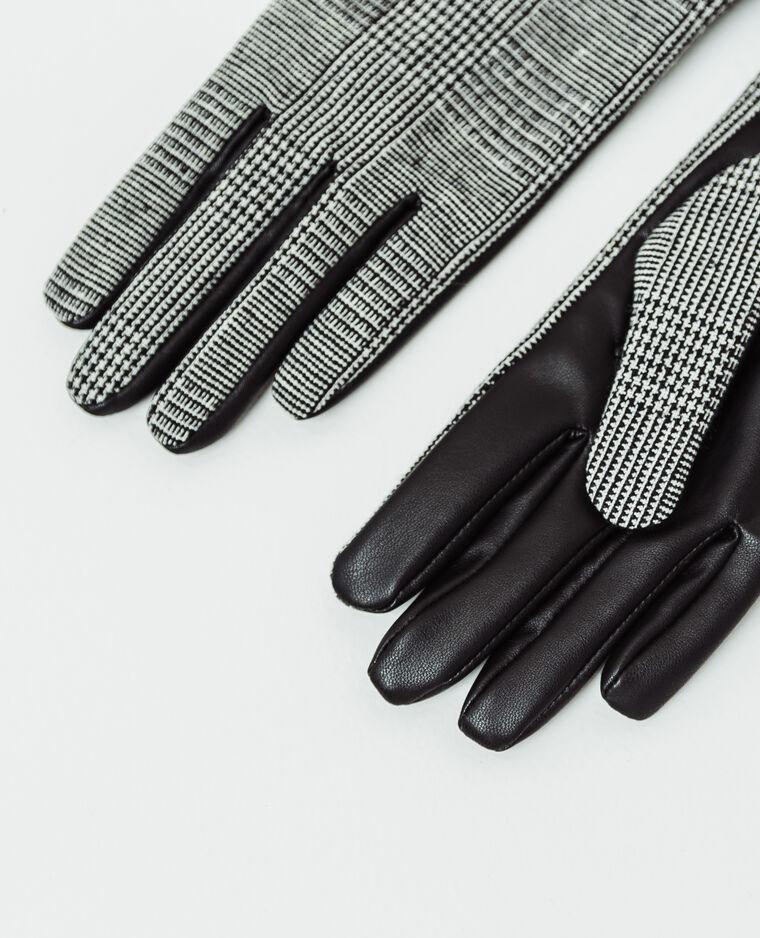 Gants imprimés noir