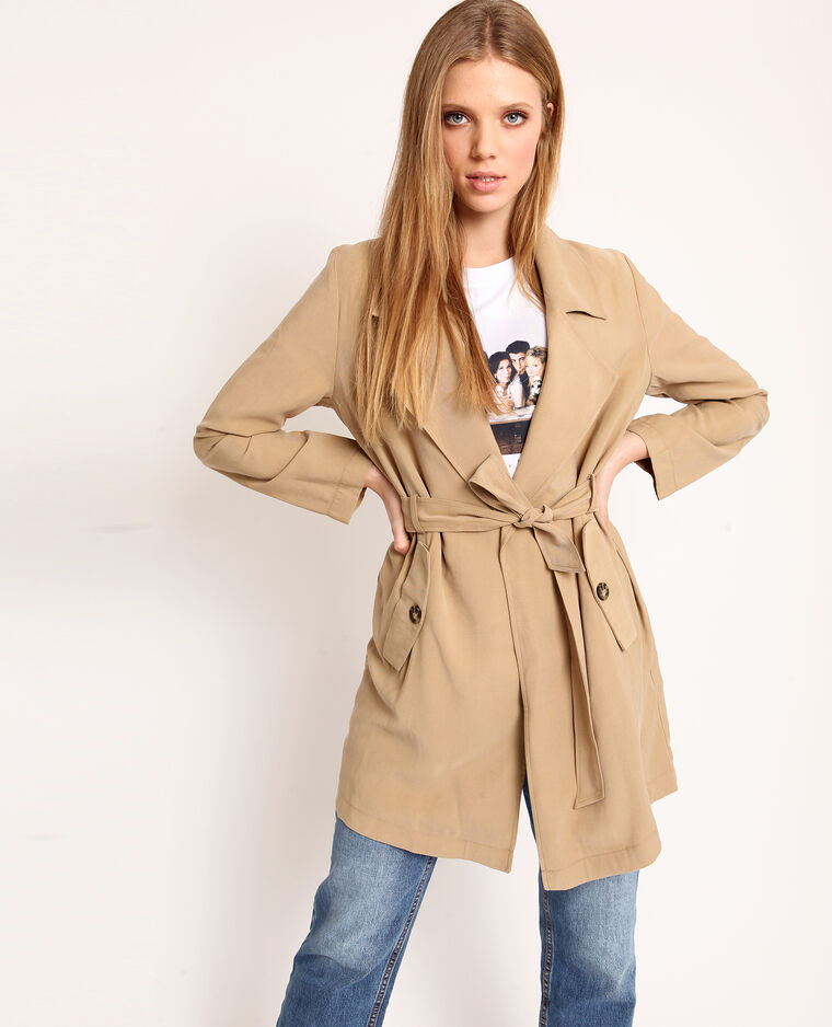 Trench fluide brun