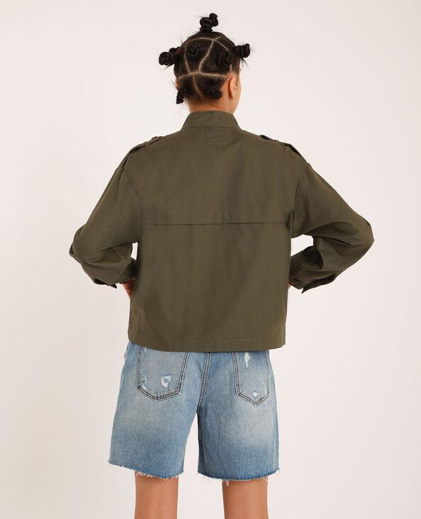 Vierkant jasje met zakken groen