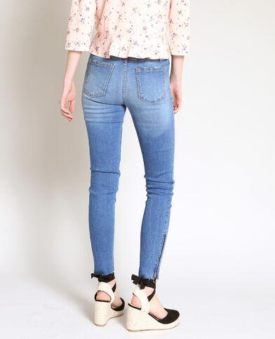 Skinny jeans met rits donkerblauw