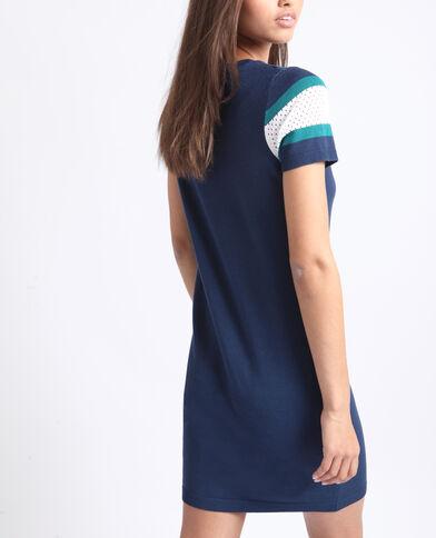 Robe pull bleu foncé