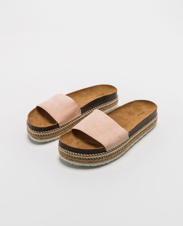 Sandalen met plateauzool roze