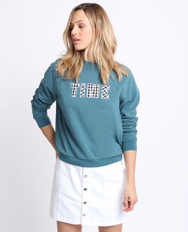 Sweater met print watergroen