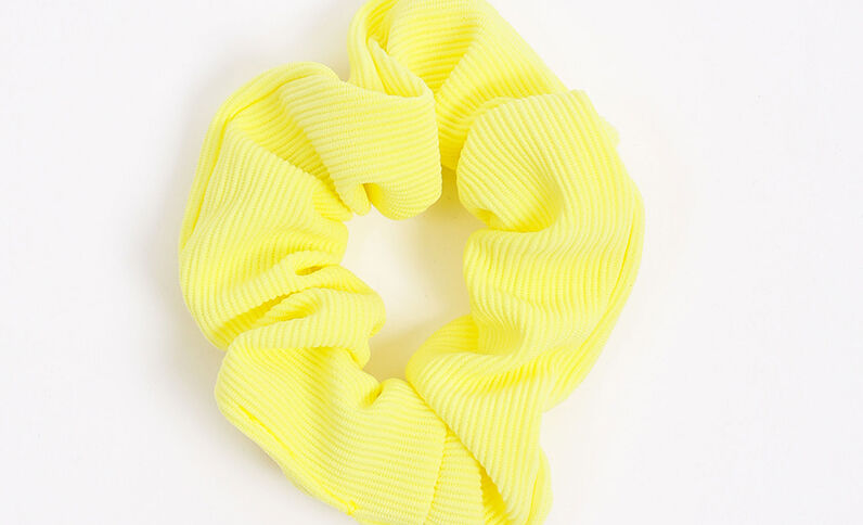 Chouchou texturé jaune fluo