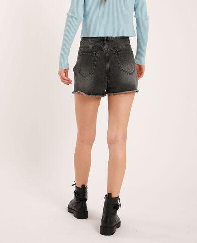 Jeansshort met hoge taille zwart