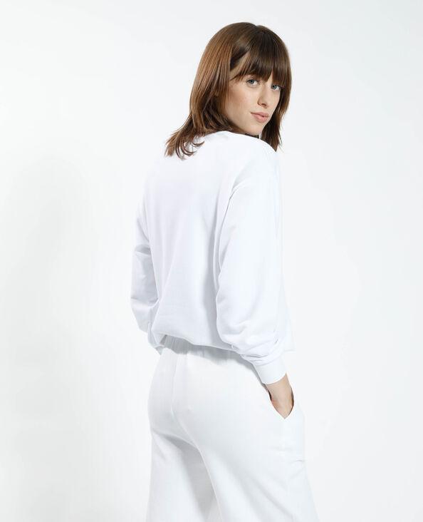 Sweat blanc - Pimkie
