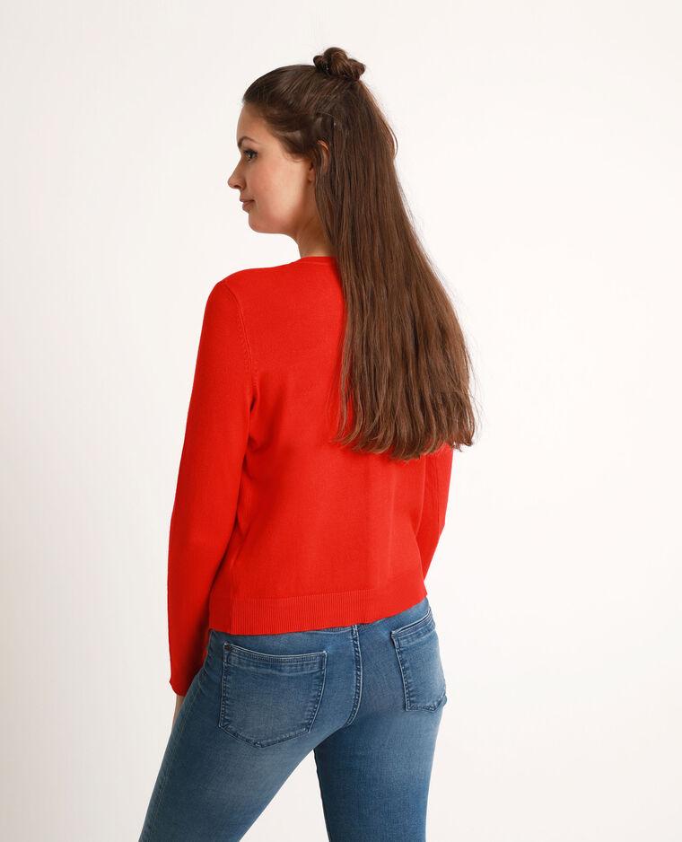 Vest met goudkleurige knopen rood