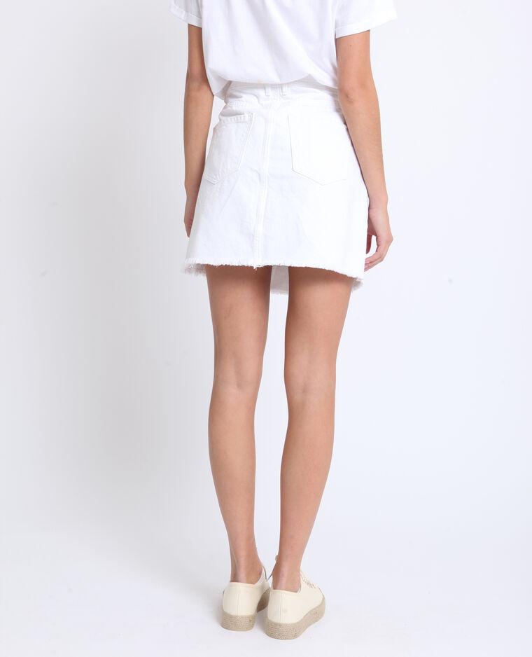Jupe en jean blanc