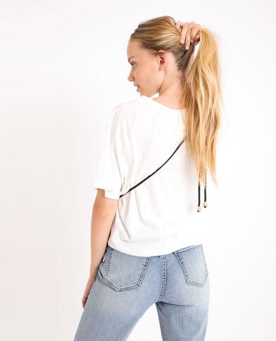 Shirt met haakwerk wit