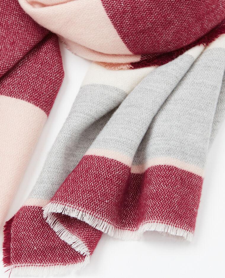 echarpe plaid bandes rose p le 907725i03c89 pimkie. Black Bedroom Furniture Sets. Home Design Ideas