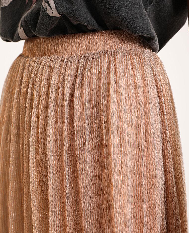 Korte glanzende rok poederbeige - Pimkie