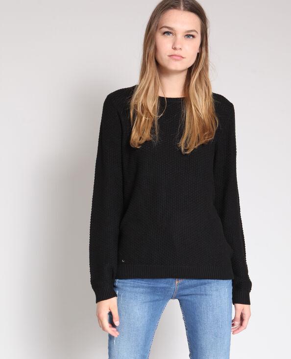 Trui in origineel tricot zwart