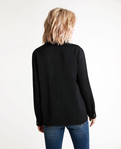 Soepelvallende blouse zwart