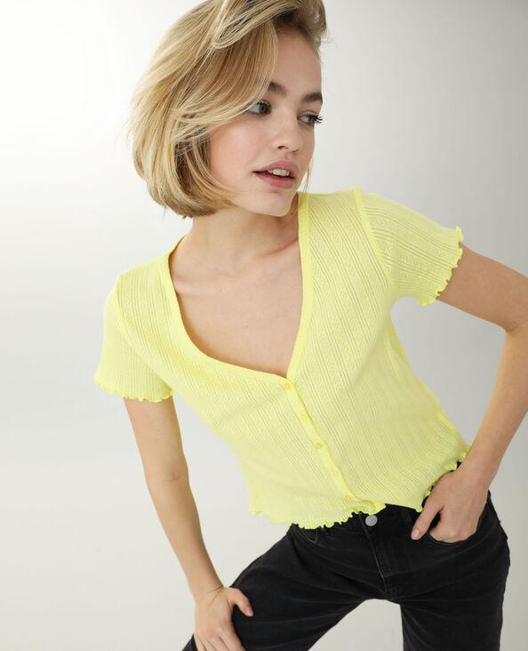 Shirt met knopen geel