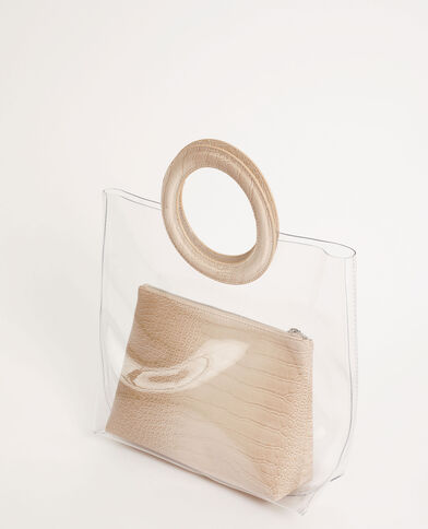 Sac à main transparent Beige