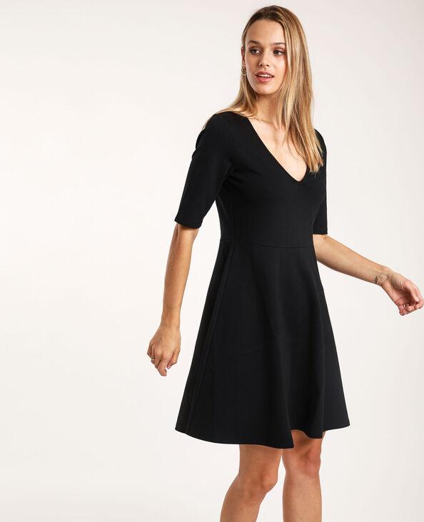Wijde jurk zwart