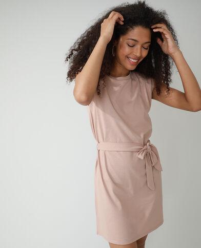 Rechte jurk met epauletten roze - Pimkie