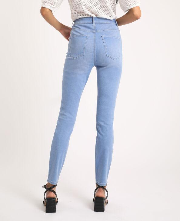 Skinny jeans met hoge taille verwassen blauw