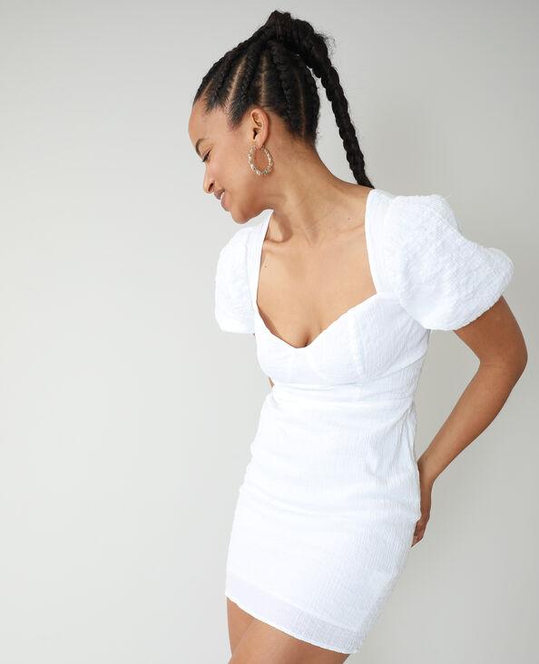 Gestructureerde jurk gebroken wit - Pimkie