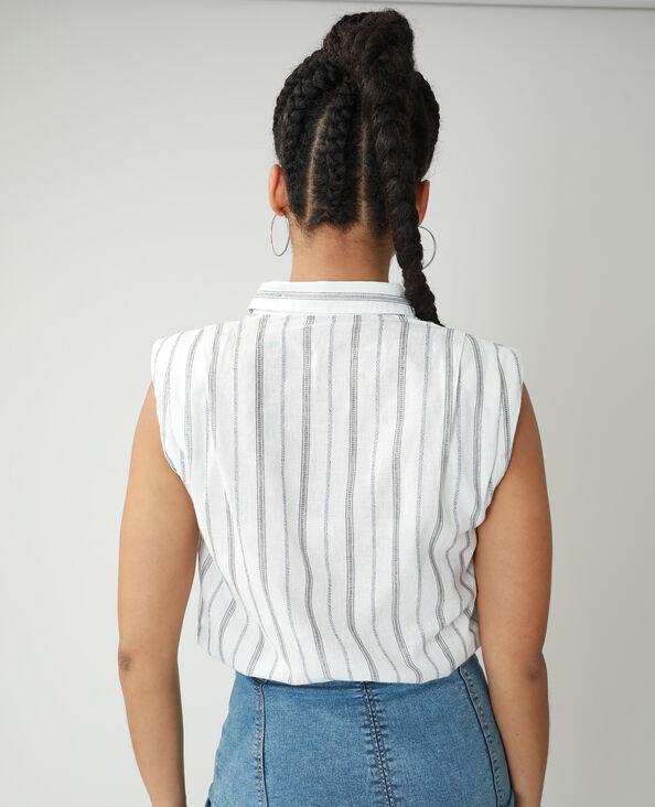 Hemd met epauletten gebroken wit - Pimkie