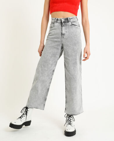Jean wide leg gris