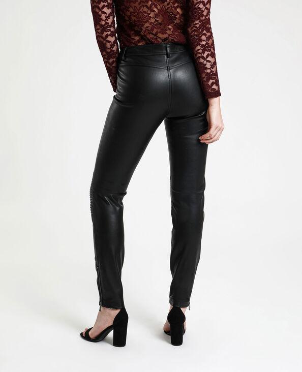 Kunstleren broek zwart