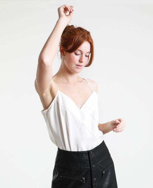 Body met dunne schouderbandjes gebroken wit