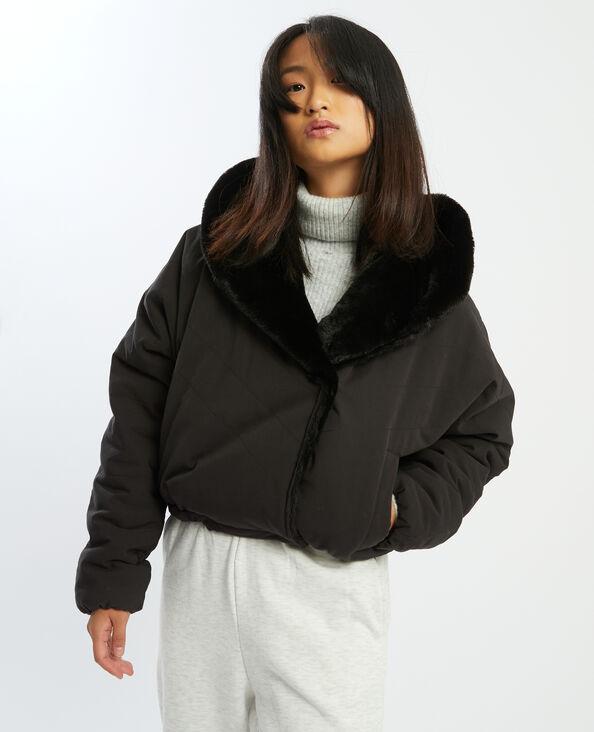 Veste bimatière réversible noir - Pimkie