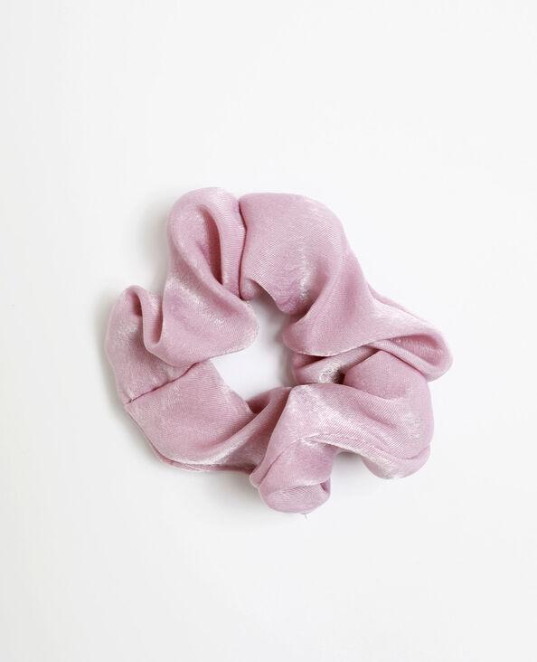 Chouchou satiné rose pastel
