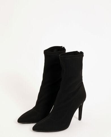 Spitse kuitlaarzen zwart