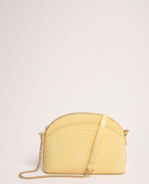 Handtas met halvemaanvorm geel