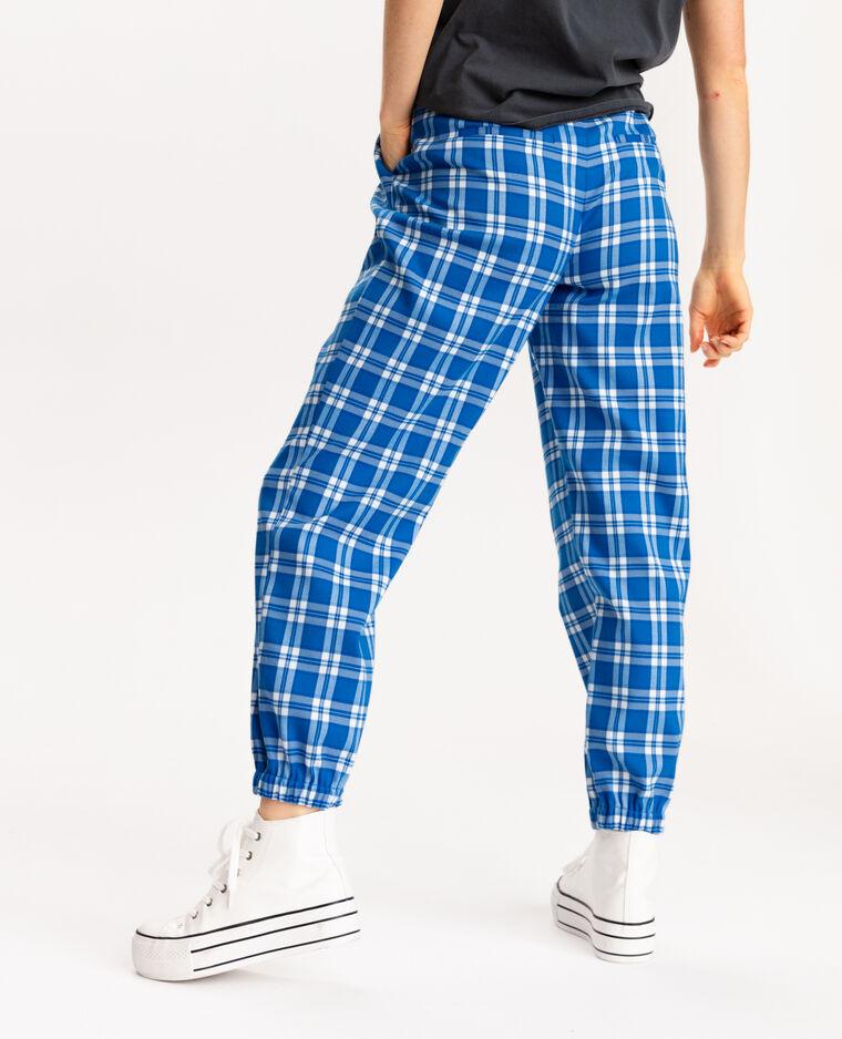 Pantalon bas resserrés bleu