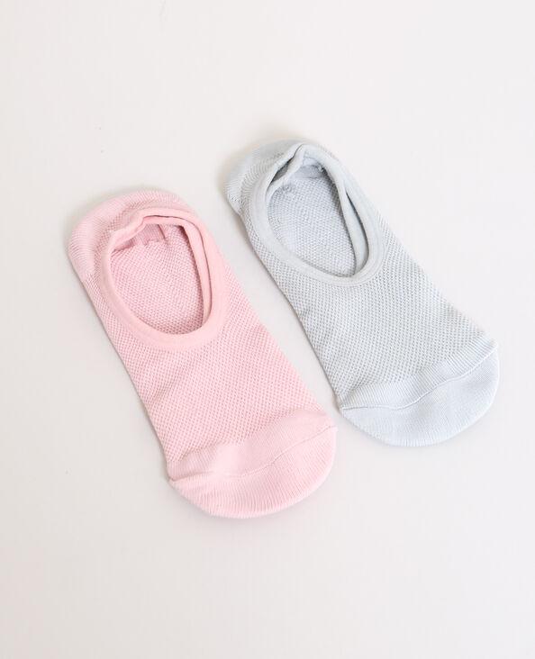 Set van 2 paar lage sokken grijs