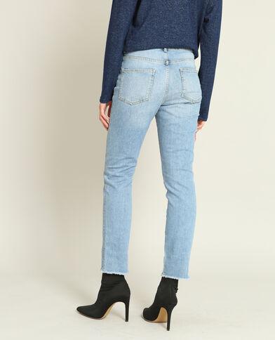 Geborduurde mom jeans blauw