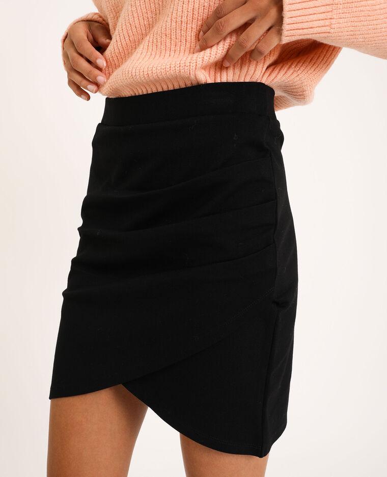 Korte gedrapeerde rok zwart - Pimkie