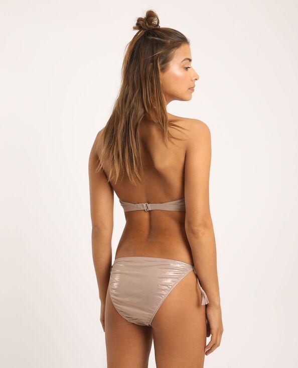 Bikinitop met franjes koperrood