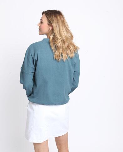 Sweater met textuur groen