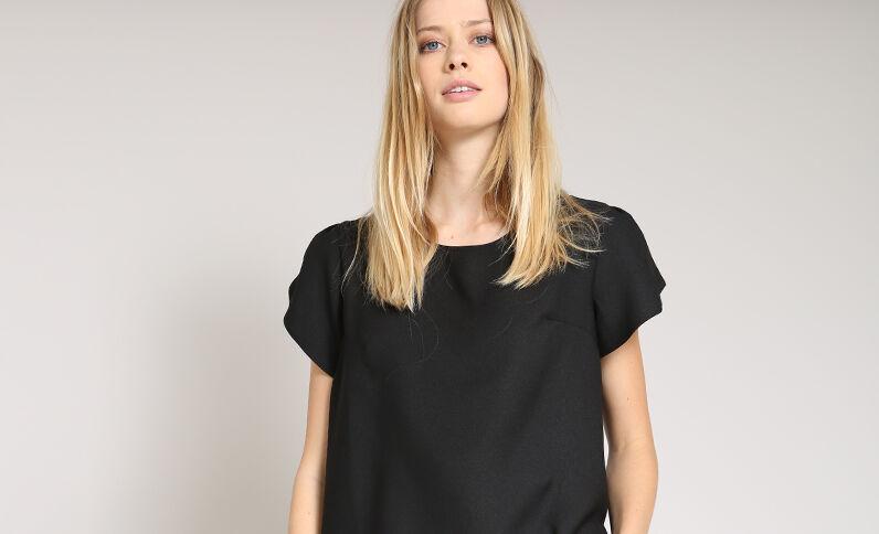 Soepele blouse zwart