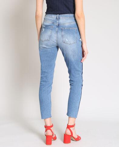 Slim jeans met hoge taille denimblauw