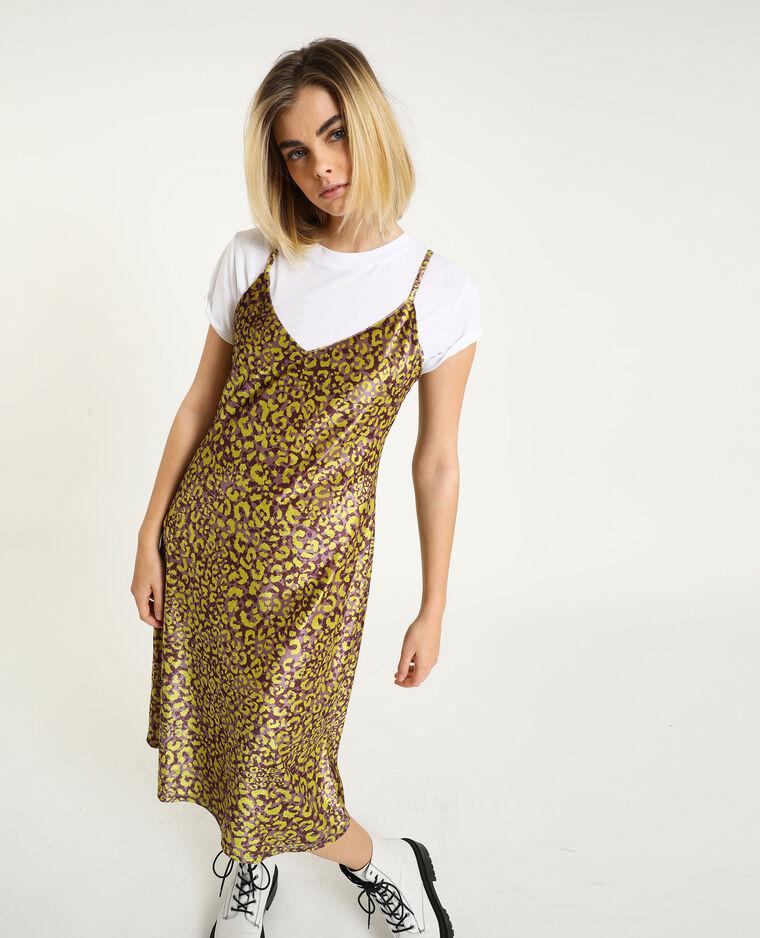 Robe velours léopard violet - Pimkie