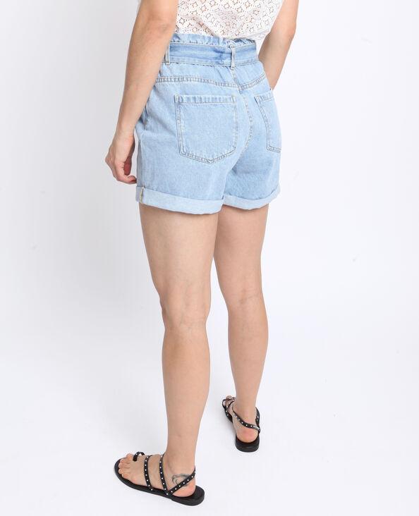 Short met hoge taille denimblauw