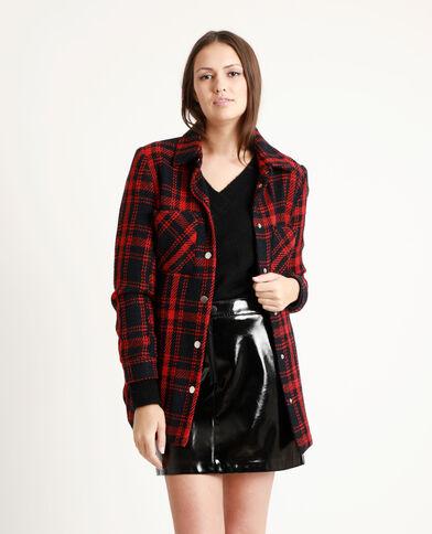 Dik jasje met ruitjes rood