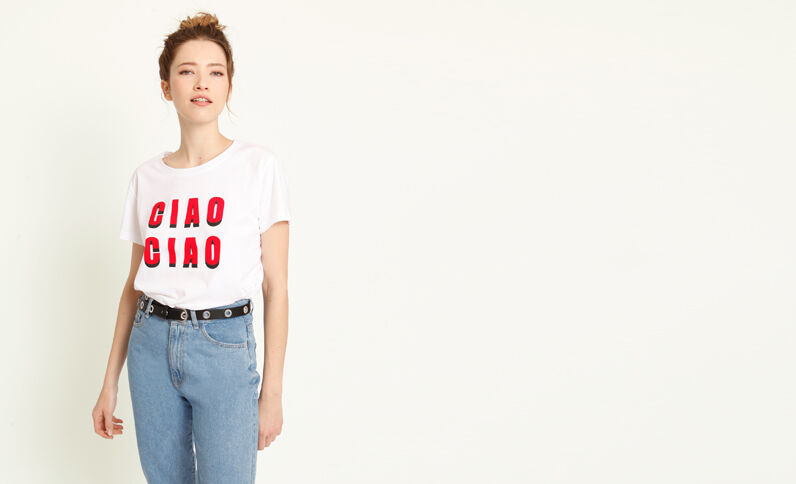 Ciao Ciao T-shirt wit