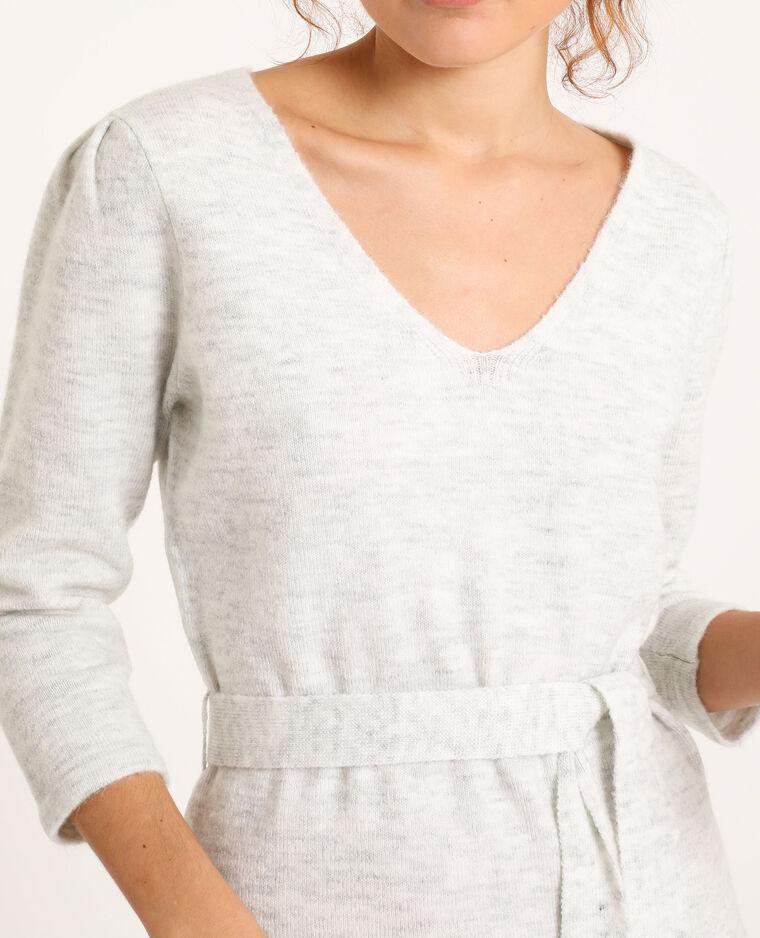 Robe pull longue gris chiné - Pimkie