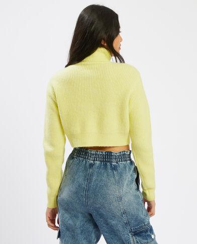 Gestreepte trui met rolkraag geel - Pimkie