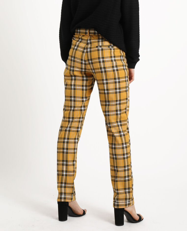 Pantalon à carreaux jaune