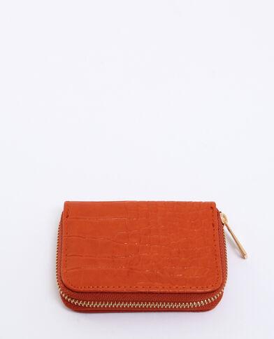 Porte-monnaie croco orange