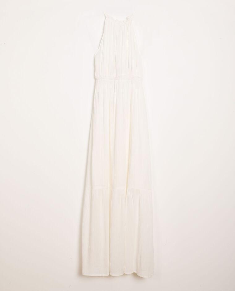 Robe à volants blanc cassé