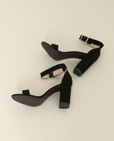 Sandalen met hakken zwart